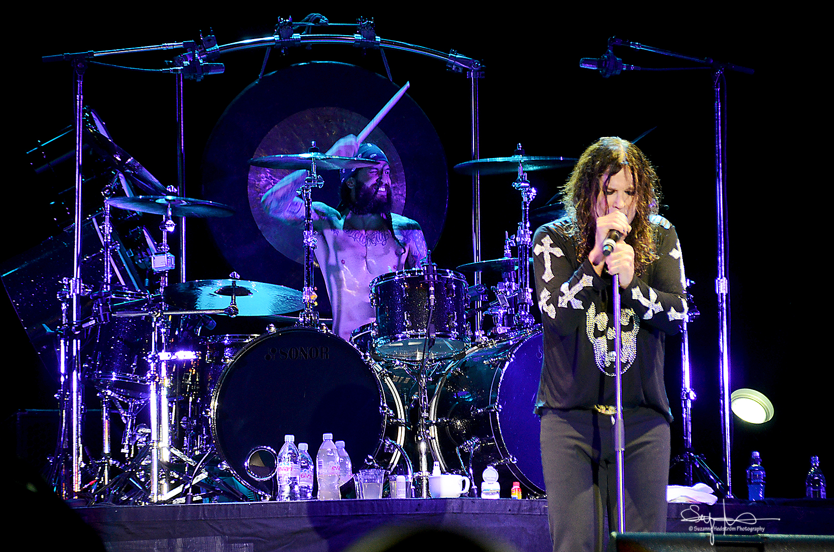 Ozzy Osborne and the drummer