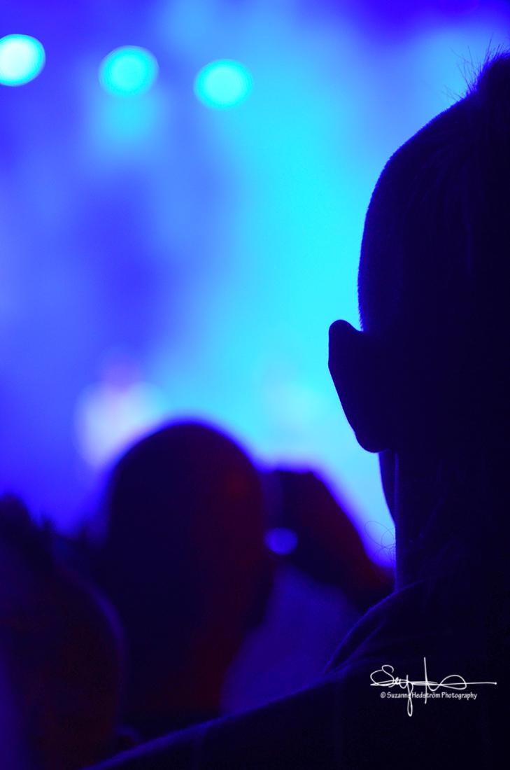 Blue light Peace & Love